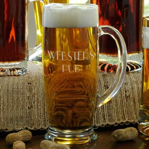 Set of 5 Groomsmen Beer Glasses