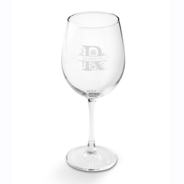 Personalized White Wine Glass-Barware-JDS-Filigree-