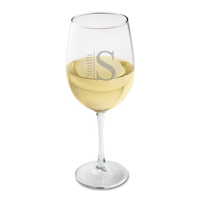 Personalized White Wine Glass-Barware-JDS-Modern-