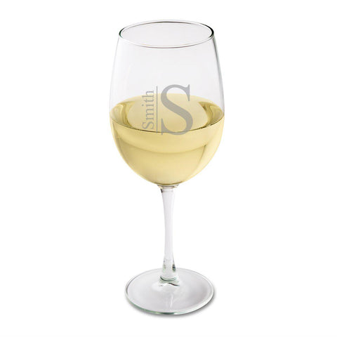 Personalized White Wine Glass - Wedding Party Gift-Groomsmen Gifts