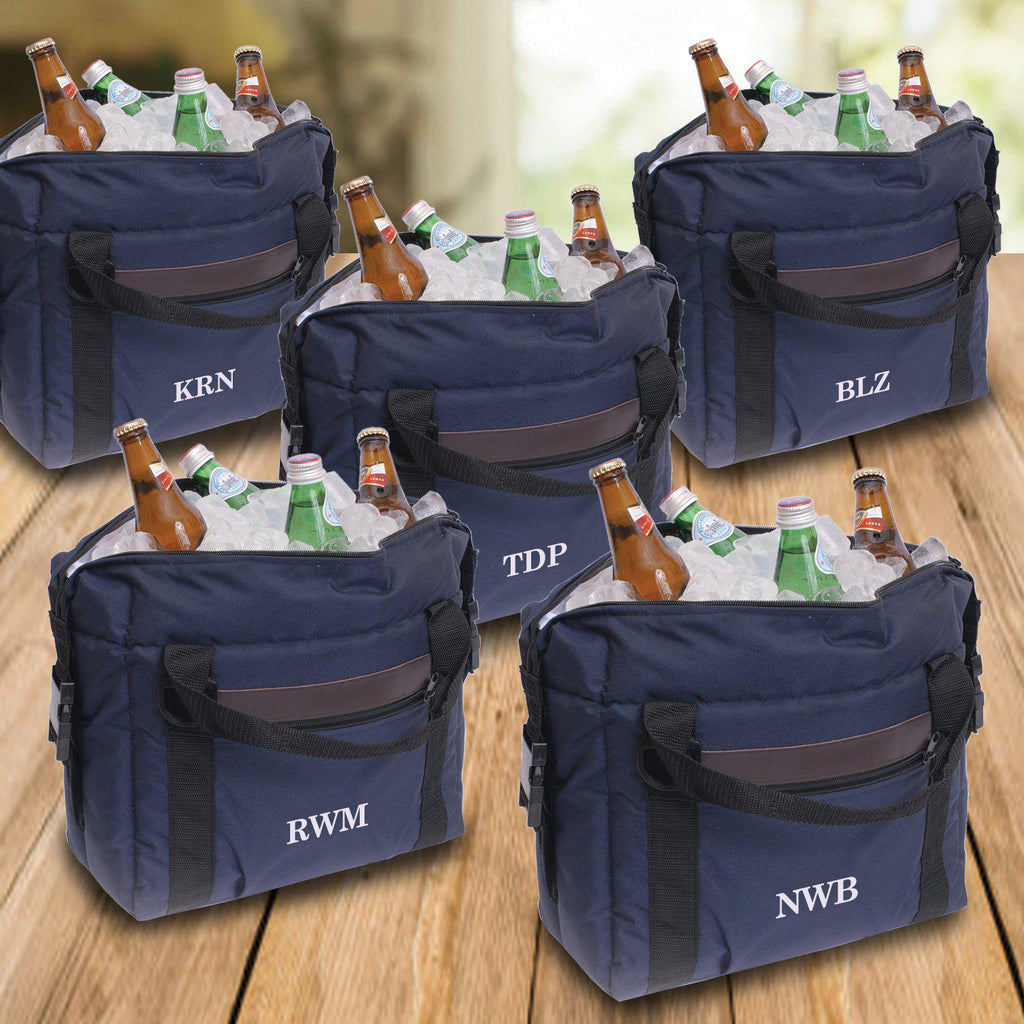 Personalized Set of 5 Soft-Sided Cooler - Personalized Coolers for Groomsmen Gifts