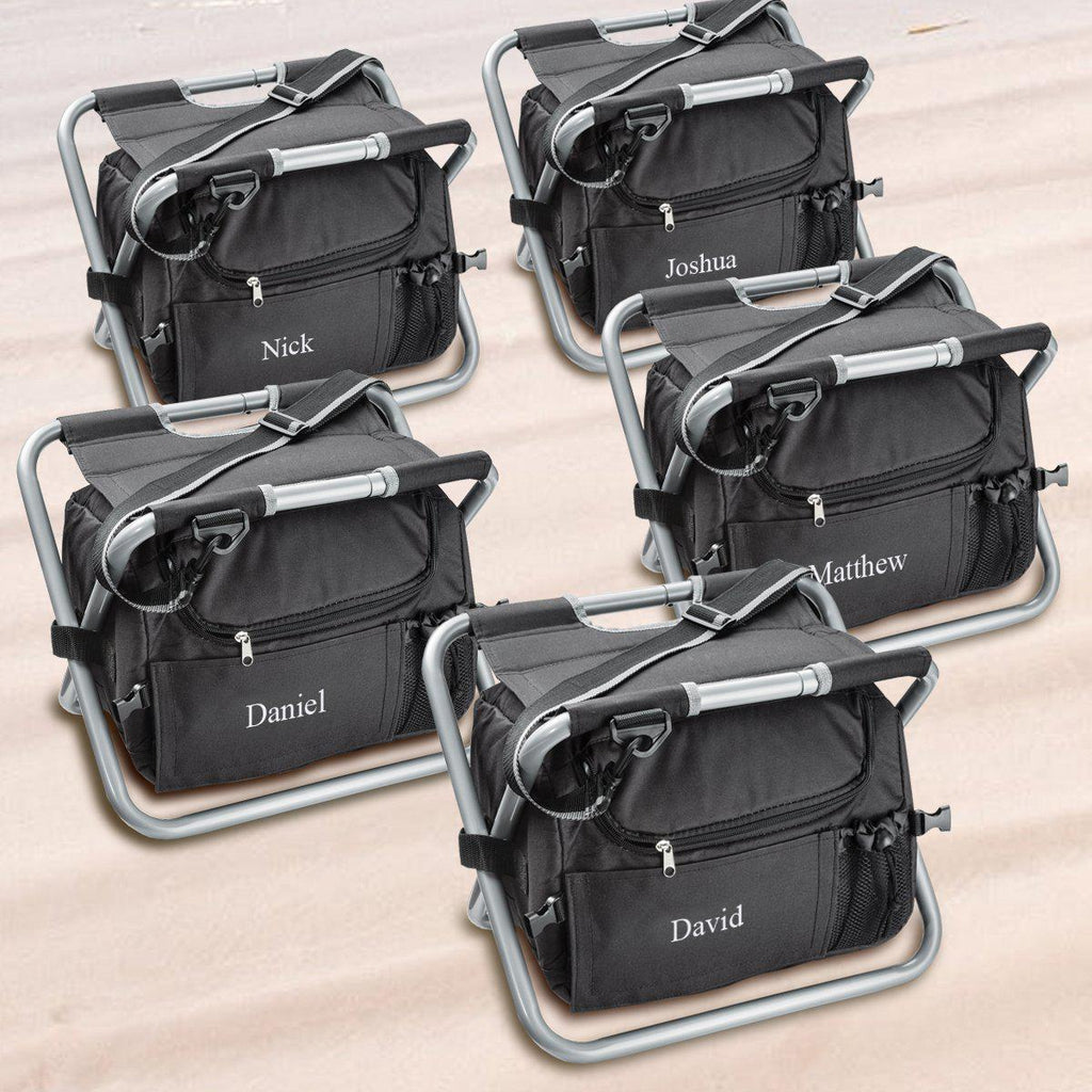 Personalized Cooler Chairs - Set of 5 - Insulated - Groomsmen