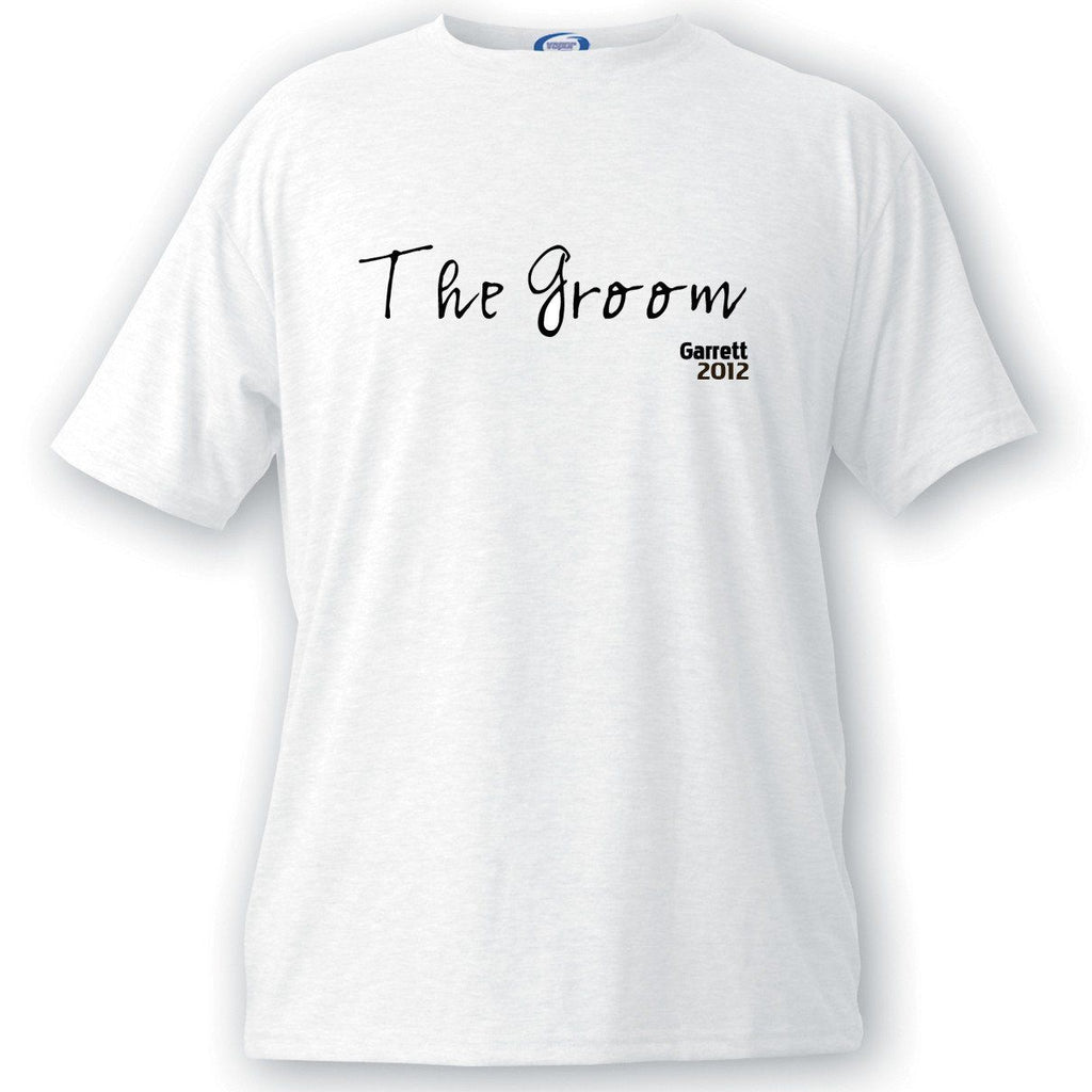 Custom Men's Script Series Groomsmen T-shirts