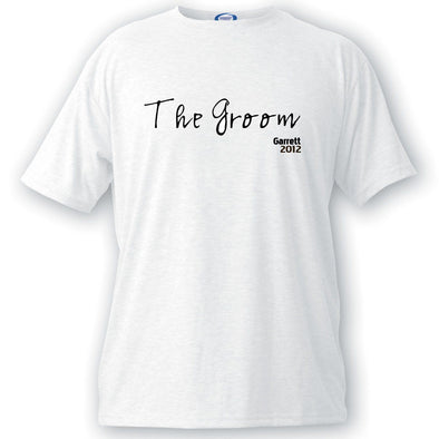 Custom T Shirt - Script Series - Groomsmen T Shirts - Groomsmen Gifts-Groom-