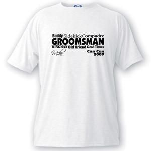 Custom Men's Text Series Groomsmen T-shirts