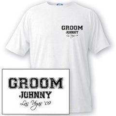 Custom Men's Collegiate Series T-shirts-Groomsmen Gifts
