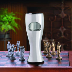 Personalized Beer Glasses - Gunmetal Pilsner - Pewter Medallion - 20 oz.-Bestman-