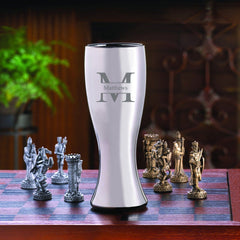 Personalized 20 ounce Gunmetal Pilsner-Groomsmen Gifts
