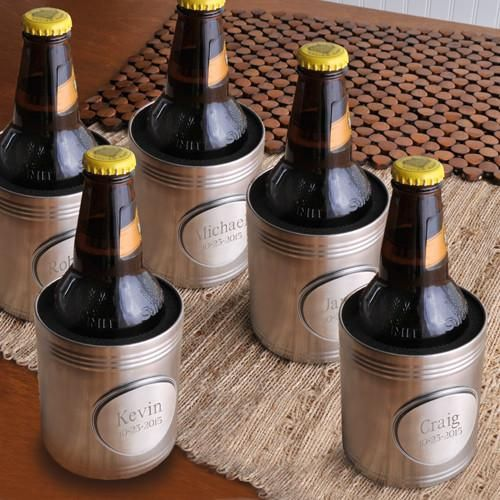 Personalized Cooler - Beer - Set of 5 - Medallion - Groomsmen