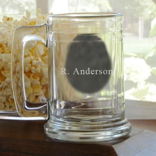 Personalized NFL Glass Beer Mugs-