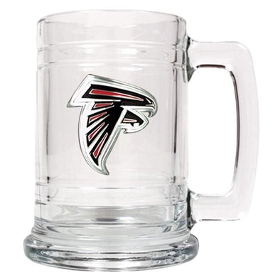 Personalized NFL Glass Beer Mugs-AtlantaFalcons-