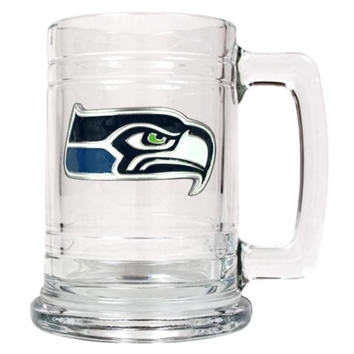 Personalized NFL Glass Beer Mugs
