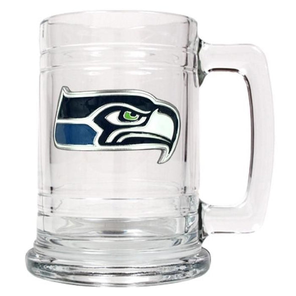 Personalized NFL Glass Beer Mugs-SeattleSeahawks-