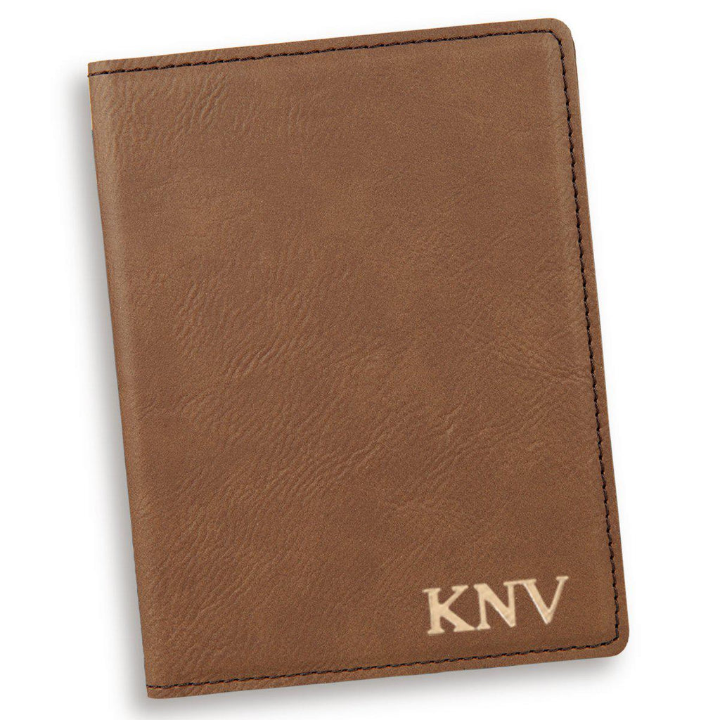 Personalized Dark Brown Passport Holder