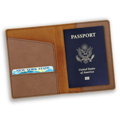 Personalized Dark Brown Passport Holder-