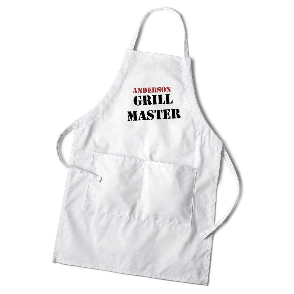 Personalized White Grilling Apron