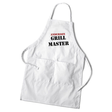 Personalized White Grilling Apron-MASTER-