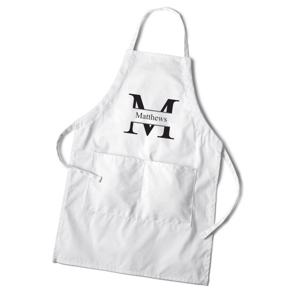 Personalized Men's White Apron