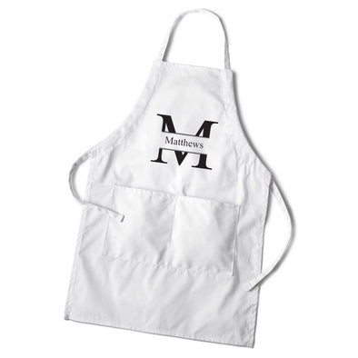 Personalized Men's White Apron-