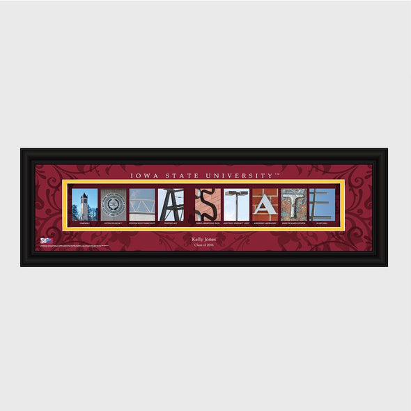Personalized Big 12 Division Conference Architectural Campus Art - University College Art-IowaState-