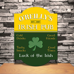 Personalized Irish Pub Sign