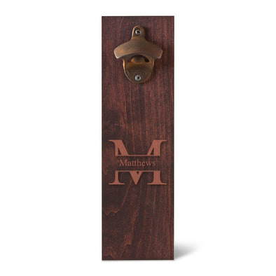 Personalized Bottle Opener - Wall Mounted - Groomsmen Gifts-Stamped-