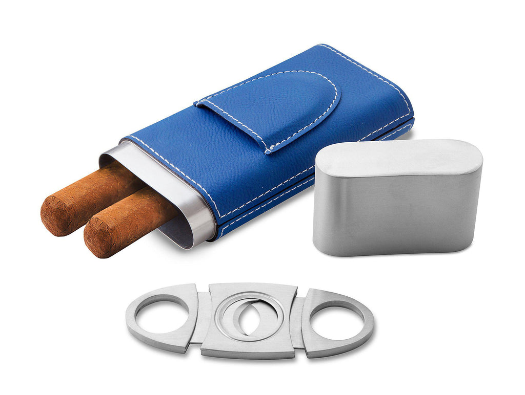 Personalized Cigar Holder - Blue