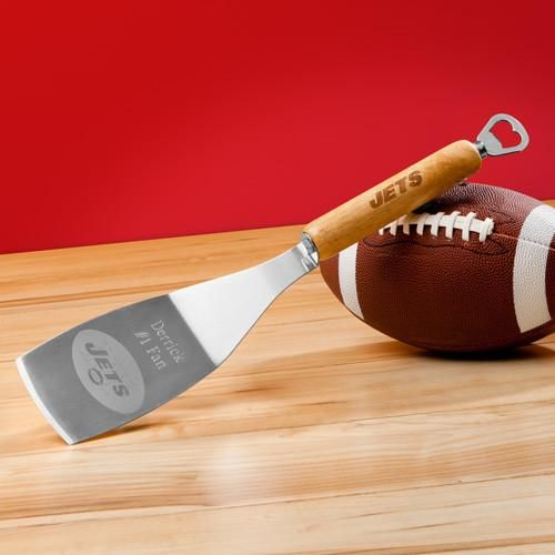 NFL Grilling Spatula - Personalized Bottle Opener-Choose Team-