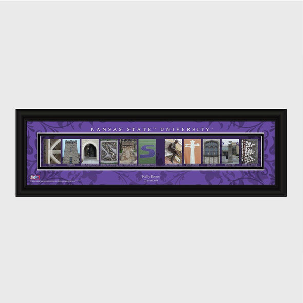 Personalized Big 12 Division Conference Architectural Campus Art - University College Art-KansasState-