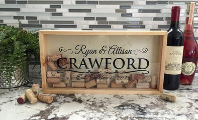 Personalized Wine Cork Keepers - Large