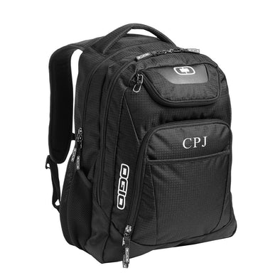 Personalized Black Ogio Excelsior Back Pack-Black-