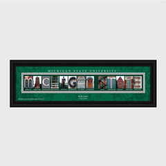 Personalized Big 10 East Division Conference Architectural Campus Art-Groomsmen Gifts