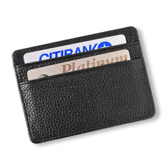 Studded Leather Money Clip and Card Holder-