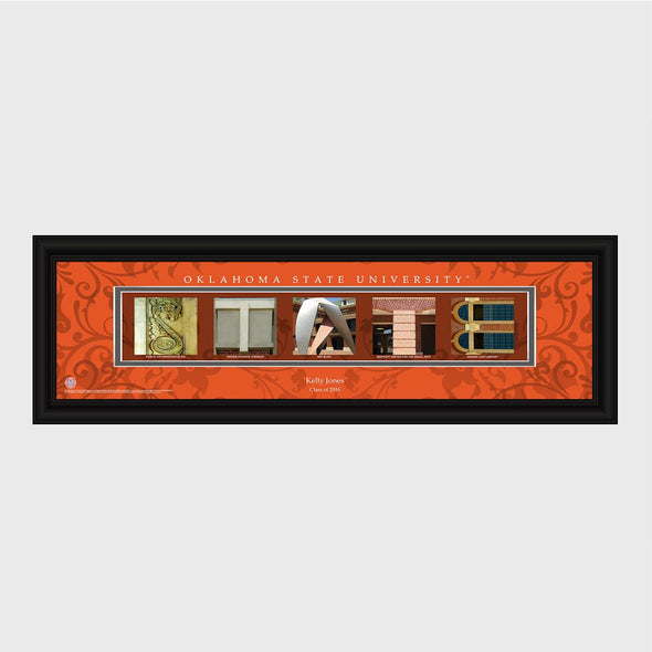 Personalized Big 12 Division Conference Architectural Campus Art - University College Art-OklahomaState-