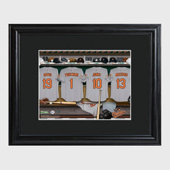 Personalized MLB Clubhouse Framed Print-BaltimoreOrioles-