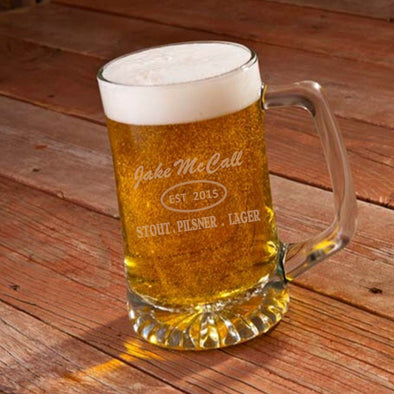 Personalized His Pub 25oz Sports Mug-