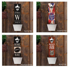 Personalized Bottle Opener - Wall Mounted - Groomsmen Gifts-