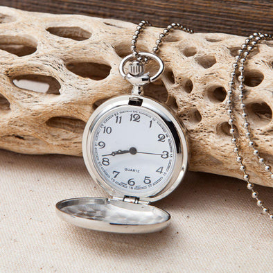 Personalized Women's Clock - Watch Pendant Necklace-