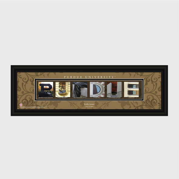 Personalized Big 10 West Division Conference Architectural Campus Art - - University College Art-Purdue-