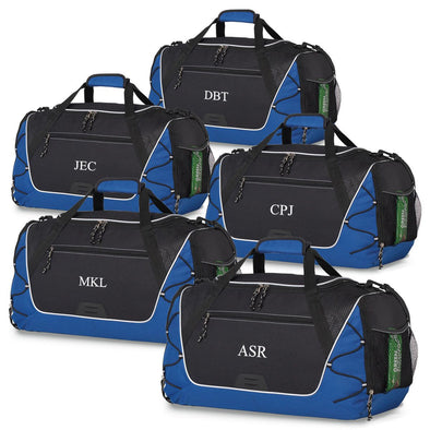 Personalized Sports Weekender Duffel Bag - Set of 5-Blue-