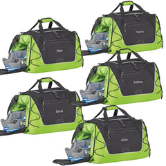 Personalized Sports Weekender Duffel Bag - Set of 5-Green-