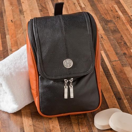 Personalized Leather Hanging Shaving Dopp Kit