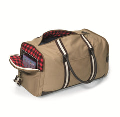 Personalized Groomsmen Heavy Canvas Duffel Bag-Travel Gifts-JDS-Khaki-