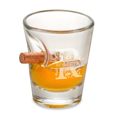 Personalized Shot Glasses - Bulletproof - Groomsmen Gift - 1.5 oz.-Filigree-