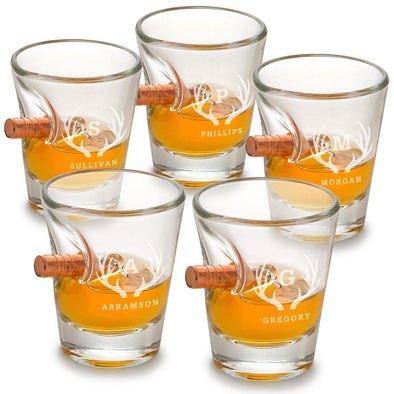 Personalized Set of 5 Shot Glasses - Bulletproof - Groomsmen Gift - 1.5 oz.