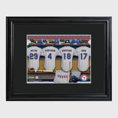 Personalized MLB Clubhouse Framed Print-Texas Rangers-