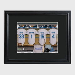 Personalized MLB Clubhouse Framed Print-Kansas City Royals-