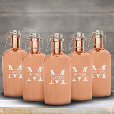 Personalized 64oz. Copper Growler - Set of 5