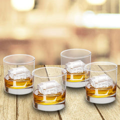 Personalized Lowball Whiskey Glasses - Mongrammed Whiskey Glasses for Groomsmen - Set of 4-Stamped-