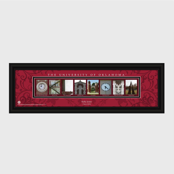 Personalized Big 12 Division Conference Architectural Campus Art - University College Art-Oklahoma-